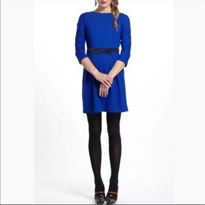 Girls from Savoy Anthropologie blue dress small